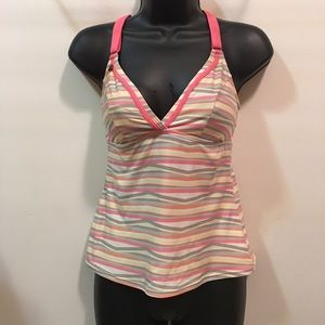 Lole adjustable strap striped tank top size Small